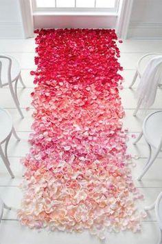 Ombre Wedding - Ombre Aisle | Wedding Planning, Ideas & Etiquette | Bridal Guide Magazine