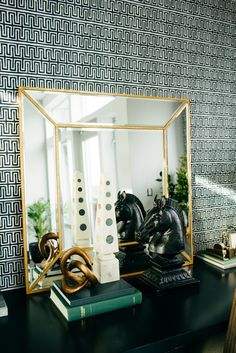 Mirrors can visually expand a room and also reflect light, making any space feel bigger and brighter. Here ...
