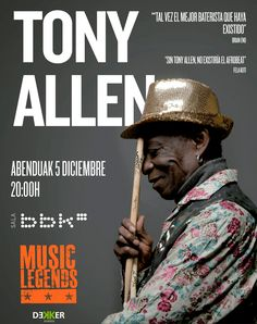 Tony Allen en sala Bbk - Bilbao - Music Legends. #music #rock #folk #blues #pop #rap #jazz #latin #indie #disco #country #funk #soul #musica #songwriter #musikk #style #lovemusic #instamusic #song #instadaily #art #euskadi #basquecountry #bilbao #donostia #vitoria #kmon #culture