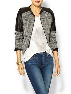 7eee15e7d8 Obsessed with this Parker Holly Leather Trim Jacket