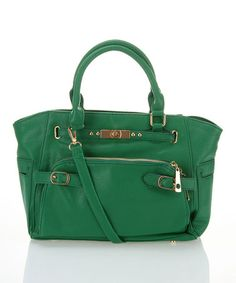 Take a look at this Green Zipper Tote by Segolene Paris on #zulily today!