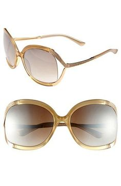 Jimmy Choo 'Beatrix' Sunglasses with Snake-embossed insets   Nordstrom @Nordstrom
