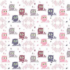 Girly owl pattern pink birds purple phone pattern wallpaper owls background seamless