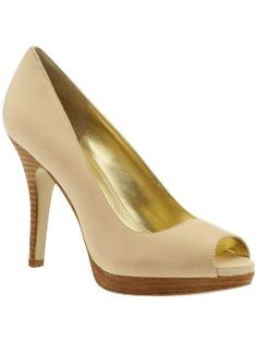 """The perfect nude peep toe? So far all the nude shoes I've bought haven't been """"it."""""""
