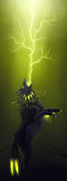 The big bad electric wolf by WolfsECHO on deviantART