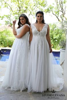 Plus size wedding dresses that are going to blow your mind! STUDIO LEVANA 2018