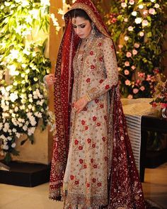 Throwback to 2011: Seemeen takes our breath away in an Ivory and Red French Net…