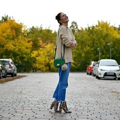 """31 Perfect Looks To Copy This December #refinery29  http://www.refinery29.com/december-outfit-of-the-day-ideas#slide-22  Snakeskin-printed booties can dress up even the simplest of looks (we're talking jeans and a beige sweater-simple).Warestyle bag.Faith Natural Snakeskin Effect High Ankle Boots, $98.06 $67.89, available at <a href=""""http://int.debenhams.com/us/product/natural-snakeskin-effect-high-ankle-boots/053010535994/?categoryId=839450"""" rel=""""nofollow"""" ..."""