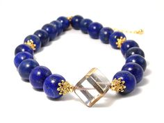 Check out this Royal Blue Lapis Lazuli Gold Plated Choker Necklace by Gold Plated Bracelets, Gold Plated Necklace, Blue Necklace, Stone Necklace, Bijoux Lapis Lazuli, Marble Gold, Jewelry Ideas, Diy Jewelry, Beaded Jewelry