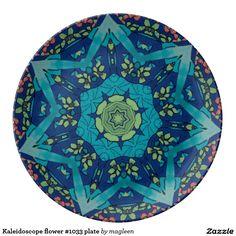 Kaleidoscope flower #1033 plate