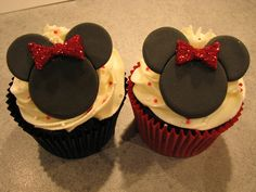 Minnie Mouse Cupcakes by Made With Pink, via Flickr
