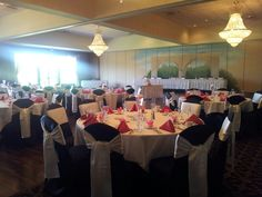 West Ballroom holds 260 guests for a wedding reception comfortably! Avalon Manor 219-945-0888