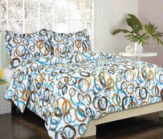 Kid's Bedding Set- Brampton Green/ Brown/ Blue Bed in a Bag - Full Size Blue Comforter Sets, Kids Bedding Sets, Green Bedding, Bed Sets, Circle Bed, Bed In A Bag, Beds Online, Love Home, Queen Beds
