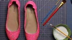 DIY Hot Trends - PUNK OUT YOUR FLATS WITH APPLIQUE, via YouTube.