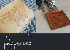 Custom Leather Wallet by #PepperBeeMenagerie #GiftsForMen #IHESF2015 #Men #ShopEtsy #Leather
