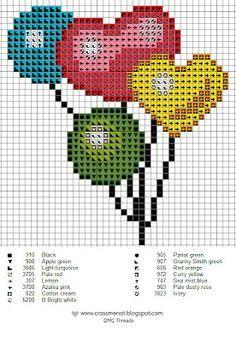 amour - love - coeur - point de croix - cross stitch - Blog : http://broderiemimie44.canalblog.com/