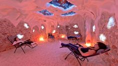BREATHE IT IN: halotherapy (breathing salted air). Enthusiasts claim that salt therapy can heal ails from eczema to asthma. -salt-therapy at Saltana Caves in Ridgefield, CT