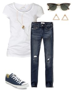 """Untitled #14"" by efrisbie on Polyvore featuring AllSaints, Abercrombie & Fitch, Converse, J.Crew, women's clothing, women's fashion, women, female, woman and misses"