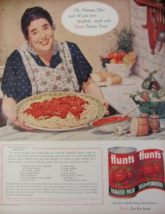1960 Hunts Tomato Paste Original Vintage Advertisement Print Ad Wall Art Kitchen Décor by RelicEclectic on Etsy, $8.00