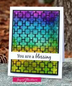 Ingrid Blackburn: The Perfect Reason - Stained Glass Technique with the Mod Squared Stencil & Everyday Mod stamps