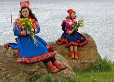 Sami girls Maria ja Inger-Elle in Inari, Finland Photo Aili Alaiso Finland