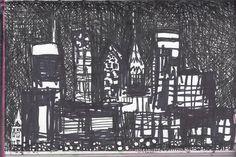 NYC Night sky quick sketch