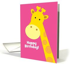 Giraffe Birthday Card. You may customize it for any other occasions.