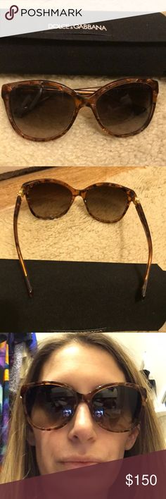 Dolce and gabbana sunglasses Like new d&g tortoise shell at eye/oval shaped sunglasses perfect year round and can be paired with any outfit..comes with original case and pouch Dolce & Gabbana Accessories Sunglasses