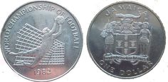 JAMAICA 1 DOLLAR COMMEMORATIVE COIN - FIFA WORLD CUP, SPAIN- 1982      Features of coin  Country- Jamaica  Face value- 1 dollar  Year- 19...