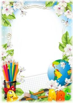 VK is the largest European social network with more than 100 million active users. Frame Border Design, Boarder Designs, Page Borders Design, School Border, Disney Frames, Free Printable Stationery, Boarders And Frames, Kids Background, School Frame