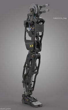 Robotics leg - 3d concept design for visual arts industry (by Eduard Pronin)