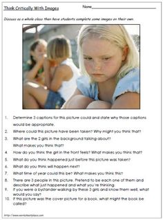 Inference Worksheet~ Images provide great opportunities to promote critical thinking. Speech Language Therapy, Speech And Language, Speech Therapy, Language Arts, Language Activities, Therapy Activities, Therapy Ideas, Physical Activities, Comprehension Strategies