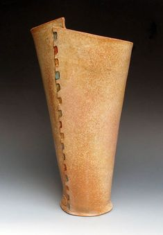 Handbuilt vase from Lee Daniels Pottery...all about the edge