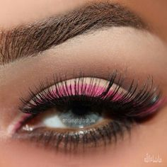 double line eyeliner. this looks kinda weird but i like this makeup idea :)