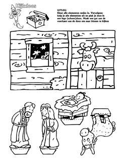 Kerststal Figuren Kleurplaten.92 Verrukkelijke Afbeeldingen Over Thema Kerst En Nieuw Diciembre