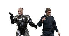 RoboCop: RoboCop (Battle Damaged Version) & Alex Murphy 1/6th Scale Figure Set (Peter Weller)