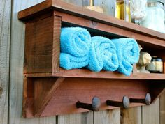 Rustic Home Decor Cubby Shelf Railroad Spikes Simple and inexpensive