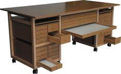 Table a dessin en bois   Chevalet peinture pour artiste   Meuble atelier d'art