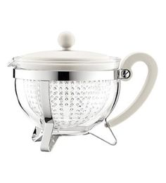 The CHAMBORD® teapot by BODUM combines design, quality and functionality of the finest caliber. The comfortable plastic handle does not conduct heat, allowing you to pour hot tea without burning yourself. This teapot includes everything you need for an en Coffee And Espresso Maker, Yellow Sky, Chambord, Cafetiere, Tea Pot Set, Kettle, Tea Time, Cleaning