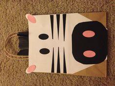 Zebra party bag