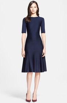 St. John Collection Elbow Sleeve Flared Dress available at #Nordstrom
