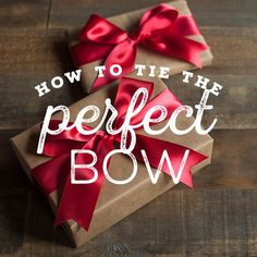 See how to tie the perfect bow in this short video from Lia Griffith.