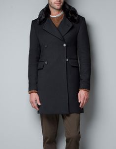 This beauty is now mine! COAT WITH FUR COLLAR - Coats - Man - ZARA United States