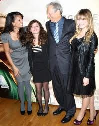 Clint's wife Dina, their daughter Morgan (named after Clint's good buddy Morgan Freeman by the way) and daughter Francesca or Franny.