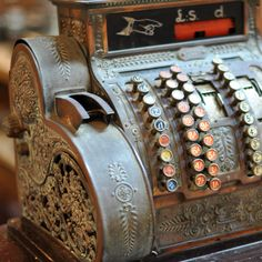 We have this VERY SAME cash register in our showroom, (with dollars, not pounds) which is from our original store!
