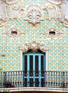 Building facade Barcelona