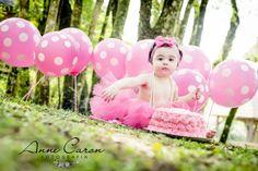 ensaio fotográfico bebê menina smash the cake; aniversário 1 ano bailarina; bolo cor de rosa; book no parque; Anne Caron Curitiba (9)
