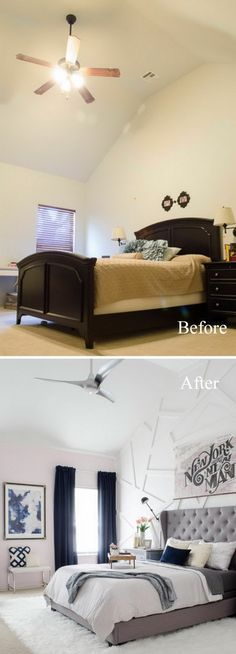 our bedroom before and after