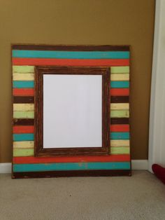 Distressed Solid Wood Picture Frame  32x36 by annelanedesigns