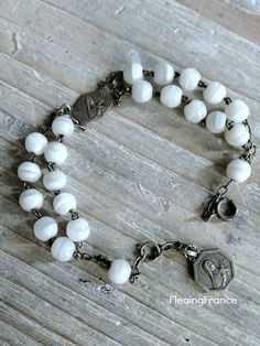 FleaingFrance.....Antique French Prayer Bracelet w/St Therese medallions